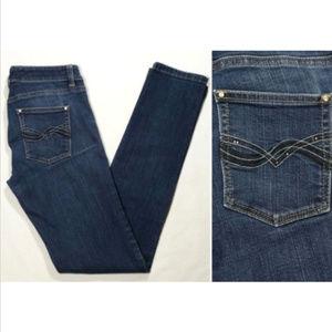 WHBM Women Skinny Slim Leg Jeans Low Rise 1747E1